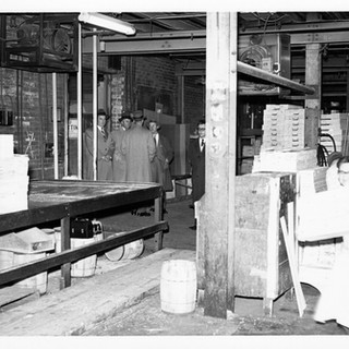 Inside the box shop in the basement.