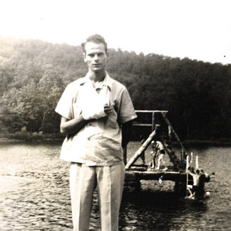 My dad Frank Duez while working at Harding Glass