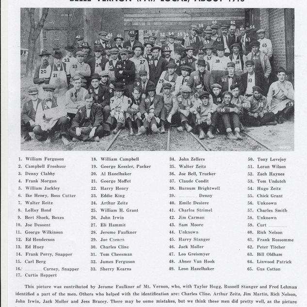 All glass cutters in 1913.