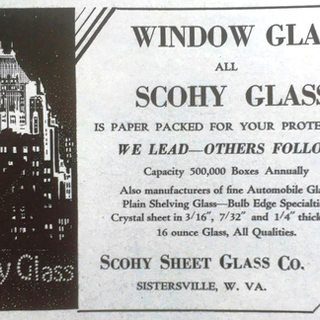 Scohy Glass, Sistersville WV advertisment.