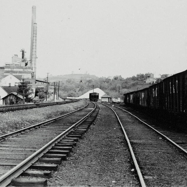 Looking west along the B&O railroad