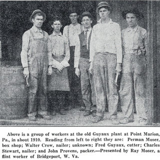 Glass workers at Jeannette Window Glass