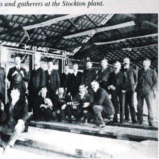 Blowing crew at Stockton around 1902