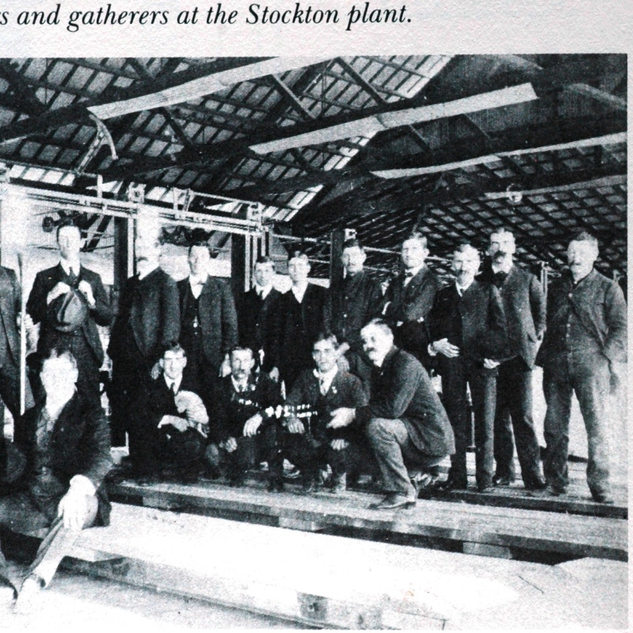 Blowing crew at Stockton around 1902