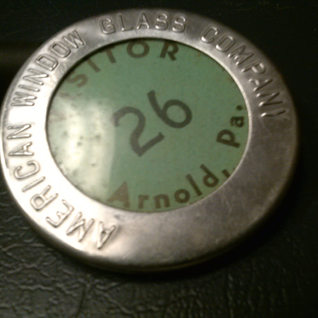 Visitor badge at Arnold