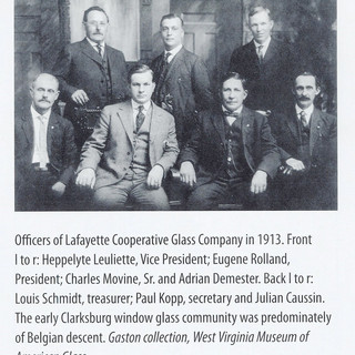 Photo of the Lafayette Glass oficers.