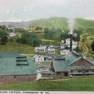 Penn Window Glass in Pennsboro, Richie County WV.  Around 1915.