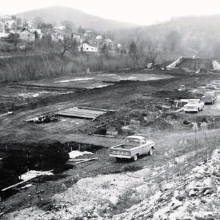 Clearing of the site, looking north.