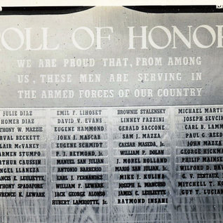 Honor roll at Rolland WWII