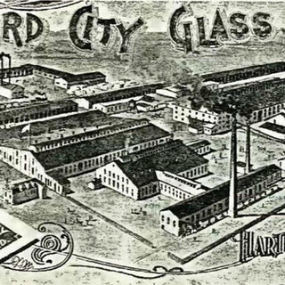 View of the Hartford City Glass Co.