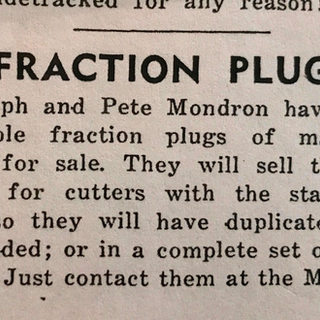 Ralph and Pete Mondron of Mt. Vernon Ohio to cutters advertising