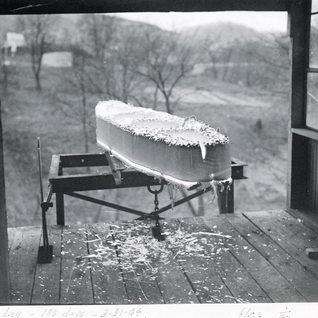 1944 hot repairs to small tank.