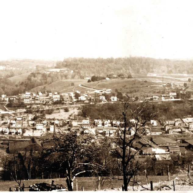 1928 photo taken from across the Mon. river