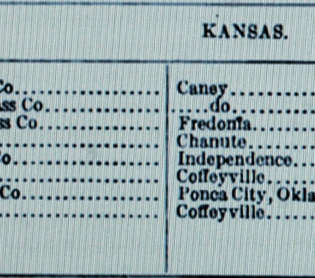 Kansas Window Glass plants listing 1913.