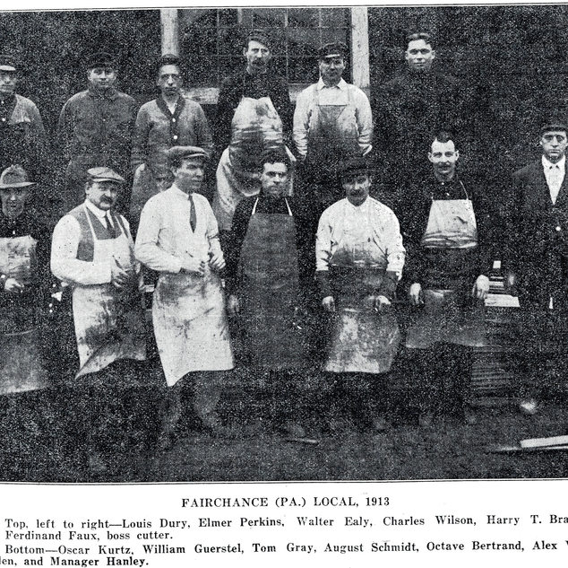 Glass cutters at Fairchance