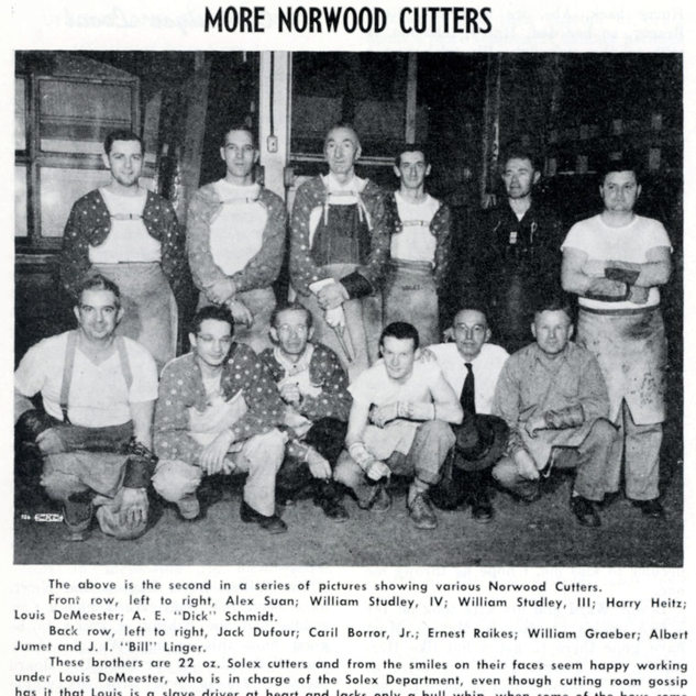 May 1953 of cutters from PPG Clarksburg