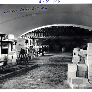Total replacement of small tank in 1946.  The new big tank is now up and running built 1945.