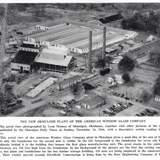 The new Okmulgee plant built in 1948