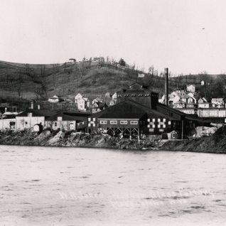 W.R. Jones view from the Westover side of the Monongahela river.