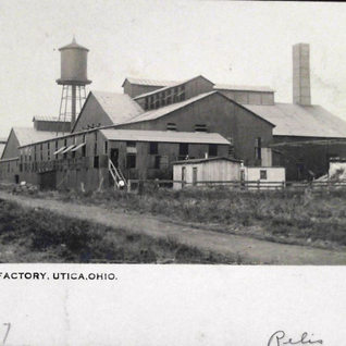In the next 30 photos we wukk cover the Utica Window Glass plants in Knox County Ohio.  Utica Glass was considered the glass center of Ohio in that time period.  This is the first of three Utica window glass plants.  Started 1904.