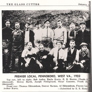 1923 cutters at the Premier Plant in Pennsboro.