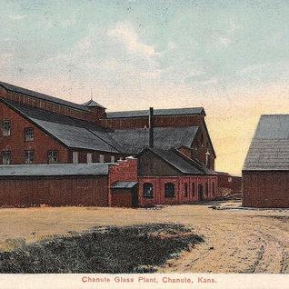 Chanute Glass plant around 1910.
