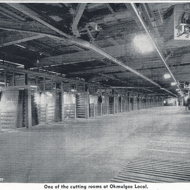 Inside one of the new cutting rooms after 1948.