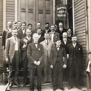 Banner Glass Catholic Church group.