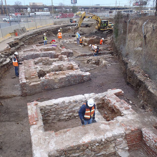 An archaeological dig was preformed