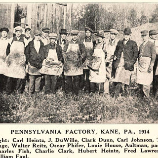Glass workers at Kane in 1914.
