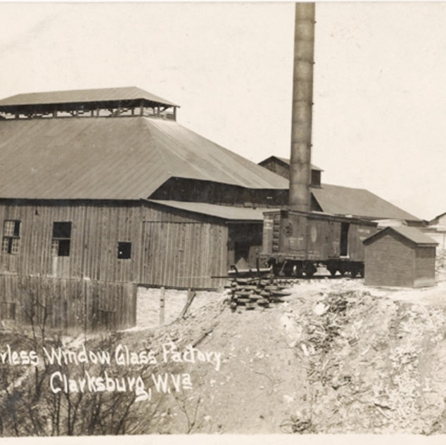 The Peerless window glass factory around 1909.