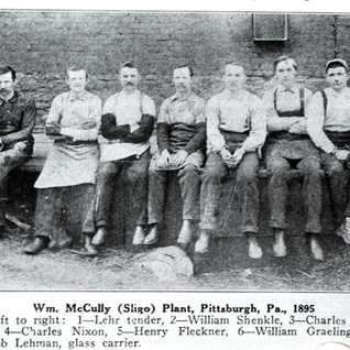 Workers from the Sligo plant in 1895.