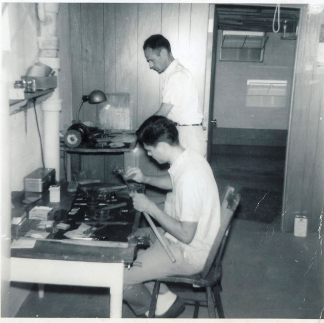 1962 photo of myself as an apprentice