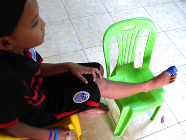Bopha Gets First-Aid