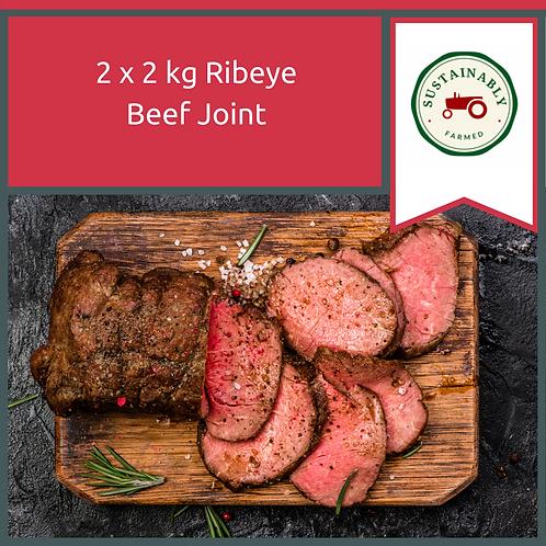 2 x 2 kg Ribeye Beef Joints