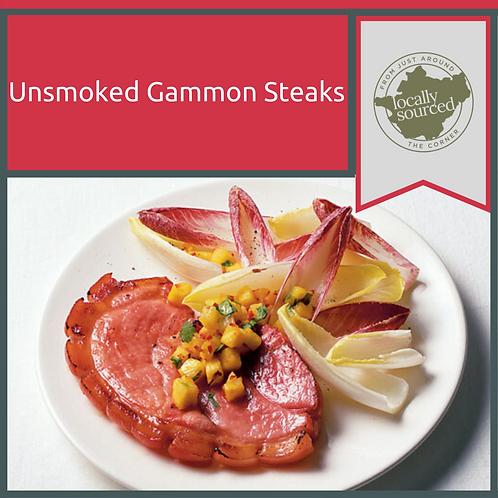 Unsmoked Hand-Cut Gammon Steaks x 2 Min 500 g