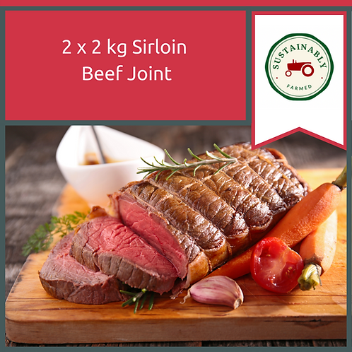 2 x 2 kg Sirloin Beef Joint