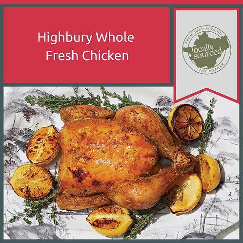 Highbury Whole Fresh Chicken 1.5kg Min