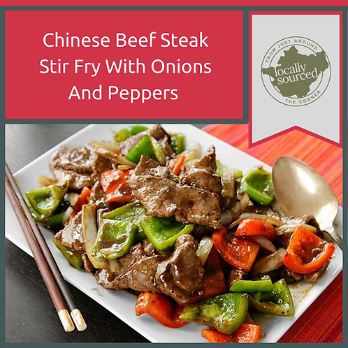 Chinese Beef Steak Stir Fry With Onions and Peppers 1kg