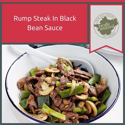 Rump Steak in Black Bean Sauce with Mushrooms & Peppers 1kg