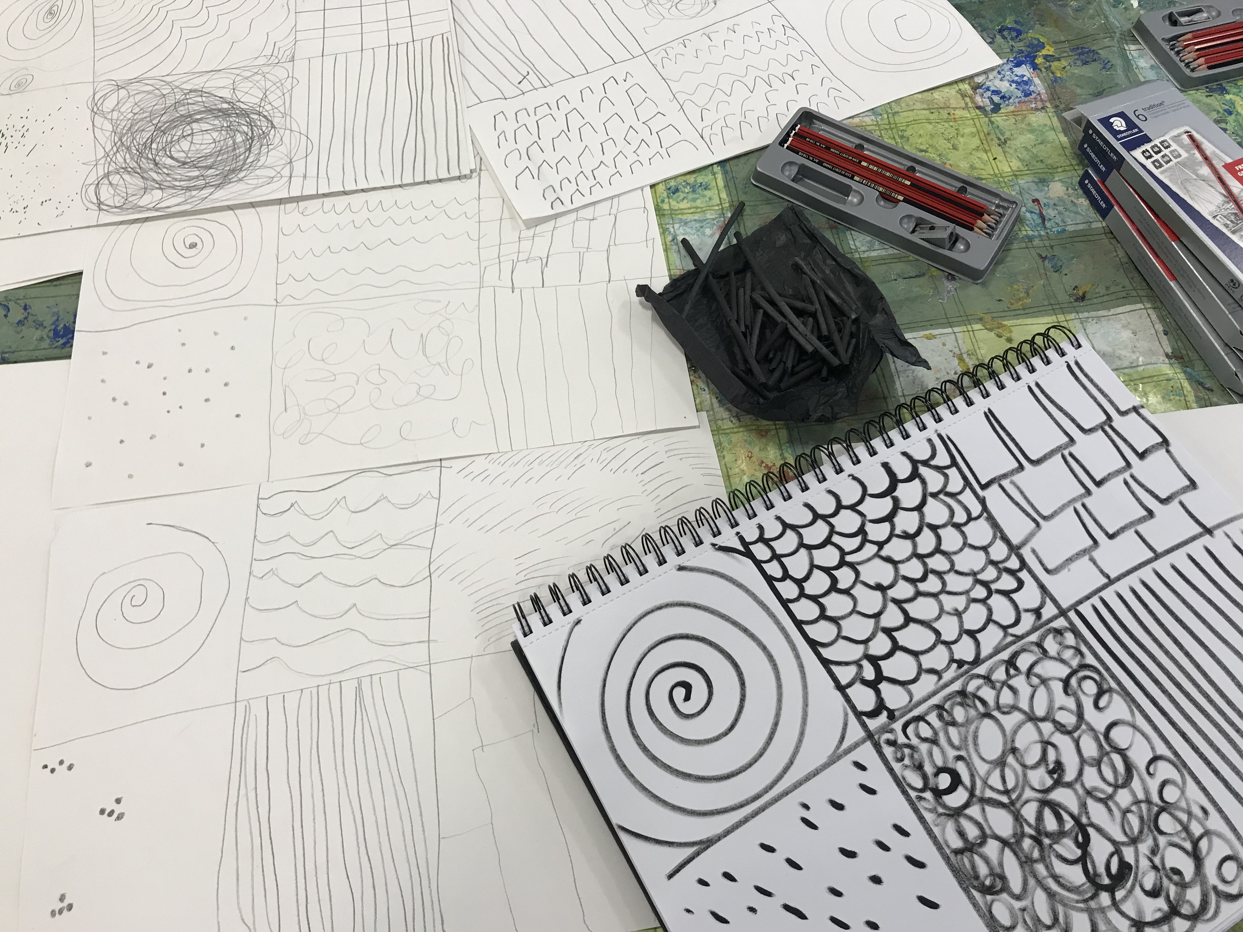drawing and markmaking workshop