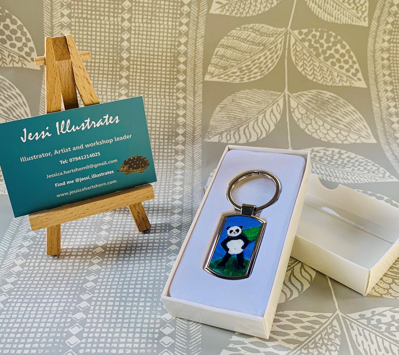 Super Panda key ring log bridge
