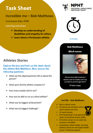 School resources National Paralympic Her