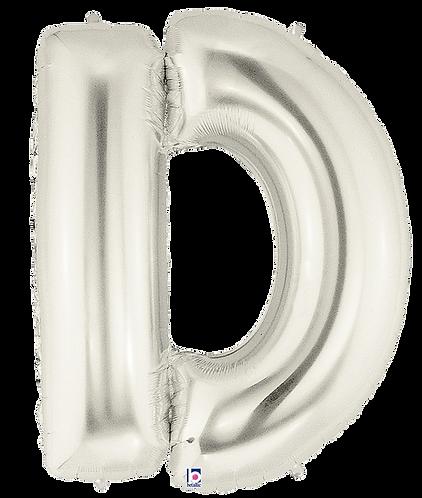 Letter 'D' in Silver