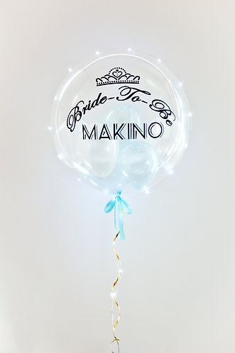 "24"" Lighted Personalised Balloon /w Mini Balloons"