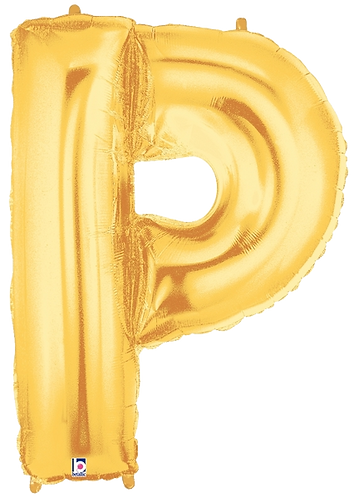 Letter 'P' in Gold