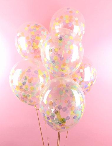 Dreamy Pastel Confetti Balloon Pack