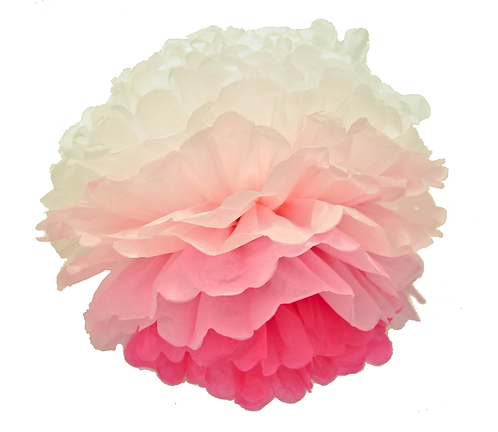 Pompom - Pink Ombre
