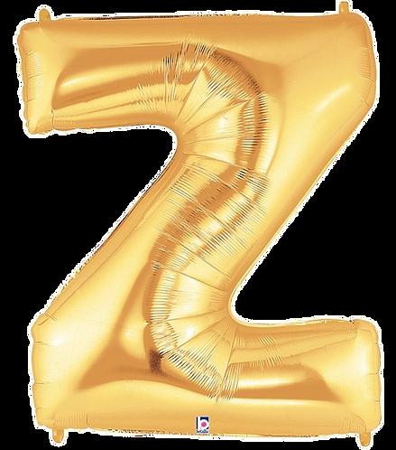 Letter 'Z' in Gold