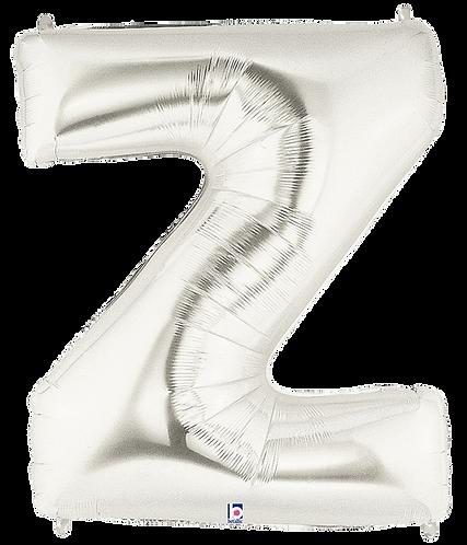 Letter 'Z' in Silver